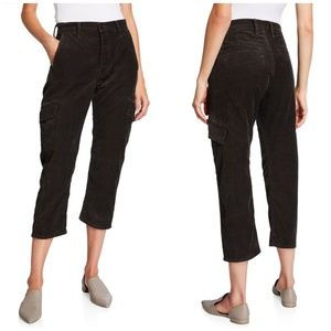 Vince | High Rise Corduroy cropped cargo Pants